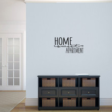 """Home Sweet Apartment Wall Decal 24"""" wide x 13"""" tall Sample Image"""