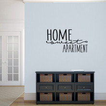 """Home Sweet Apartment Wall Decal 36"""" wide x 20"""" tall Sample Image"""