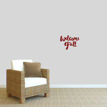 """Welcome Y'all Ohio Wall Decal 12"""" wide x 9"""" tall Sample Image"""