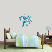 "Choose Joy Wall Decal 22"" wide x 22"" tall Sample Image"