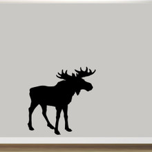 "Moose Silhouette Wall Decal 48"" wide x 48"" tall Sample Image"