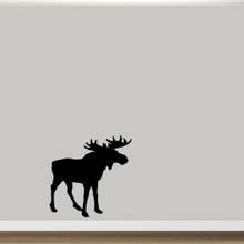"Moose Silhouette Wall Decal 36"" wide x 36"" tall Sample Image"