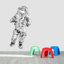 """Astronaut Printed Wall Decal 30"""" wide x 60"""" tall Sample Image"""