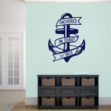 """Anchored In Ohio Wall Decal 27"""" wide x 36"""" tall Sample Image"""