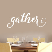 """Gather Wall Decal 48"""" wide x 18"""" tall Sample Image"""