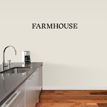 "Farmhouse Wall Decal 36"" wide x 4"" tall Sample Image"