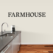 "Farmhouse Wall Decal 60"" wide x 7"" tall Sample Image"