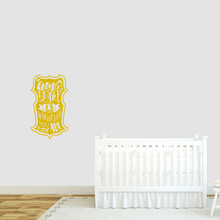"""My Heart Is Wherever You Are Wall Decal 14"""" wide x 24"""" tall Sample Image"""