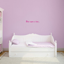 """Once Upon A Time Wall Decal 18"""" wide x 3"""" tall Sample Image"""
