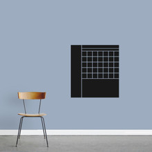 "Chalkboard Calendar With Notes Wall Decals 22"" wide x 24"" tall Sample Image"