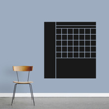 "Chalkboard Calendar With Notes Wall Decals 33"" wide x 36"" tall Sample Image"