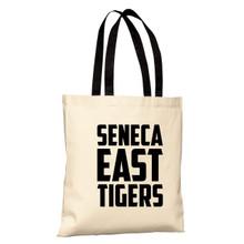 Natural / Black Seneca East Tigers Basic Tote Bag