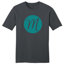 Charcoal Circle Single Monogram T-Shirt