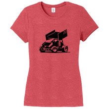 Red Frost Custom Sprint Car Women's Fitted T-Shirt