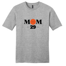 Light Heathered Gray Custom Basketball Mom T-Shirt