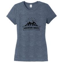 Navy Frost Adventure Awaits Women's Fitted T-Shirt
