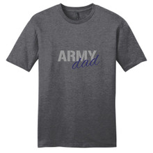 Heathered Charcoal Army Dad T-Shirt
