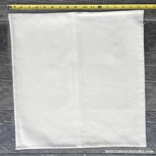 "18"" cotton pillow case. Natural color with hidden zipper closure."