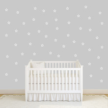Outlined Stars Set Wall Decals Small Sample Image
