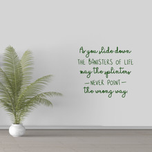"""The Banisters Of Life Wall Decal 24"""" wide x 22"""" tall Sample Image"""
