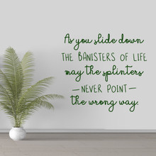 """The Banisters Of Life Wall Decal 36"""" wide x 33"""" tall Sample Image"""