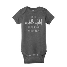 Vintage Smoke Birth order, middle child Infant Onesie T-Shirt