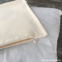 Plain cotton pillow case pictured with poly insert.