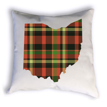 Fall Plaid Ohio Pillow Sample Image