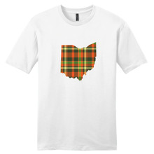Fall Plaid Ohio Unisex T-Shirt Sample Image