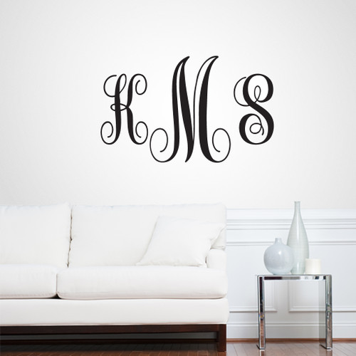 Full Name Fancy Monogram Wall Decals and Stickers  sc 1 st  Sweetums Signatures & Monogram Wall Decals | Sweetums Wall Decals