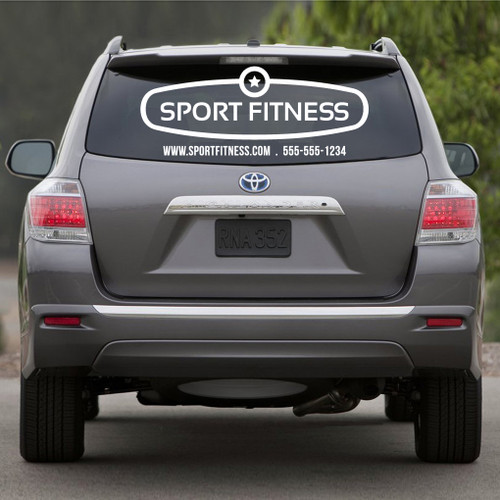 Large custom vehicle business logo decals and stickers