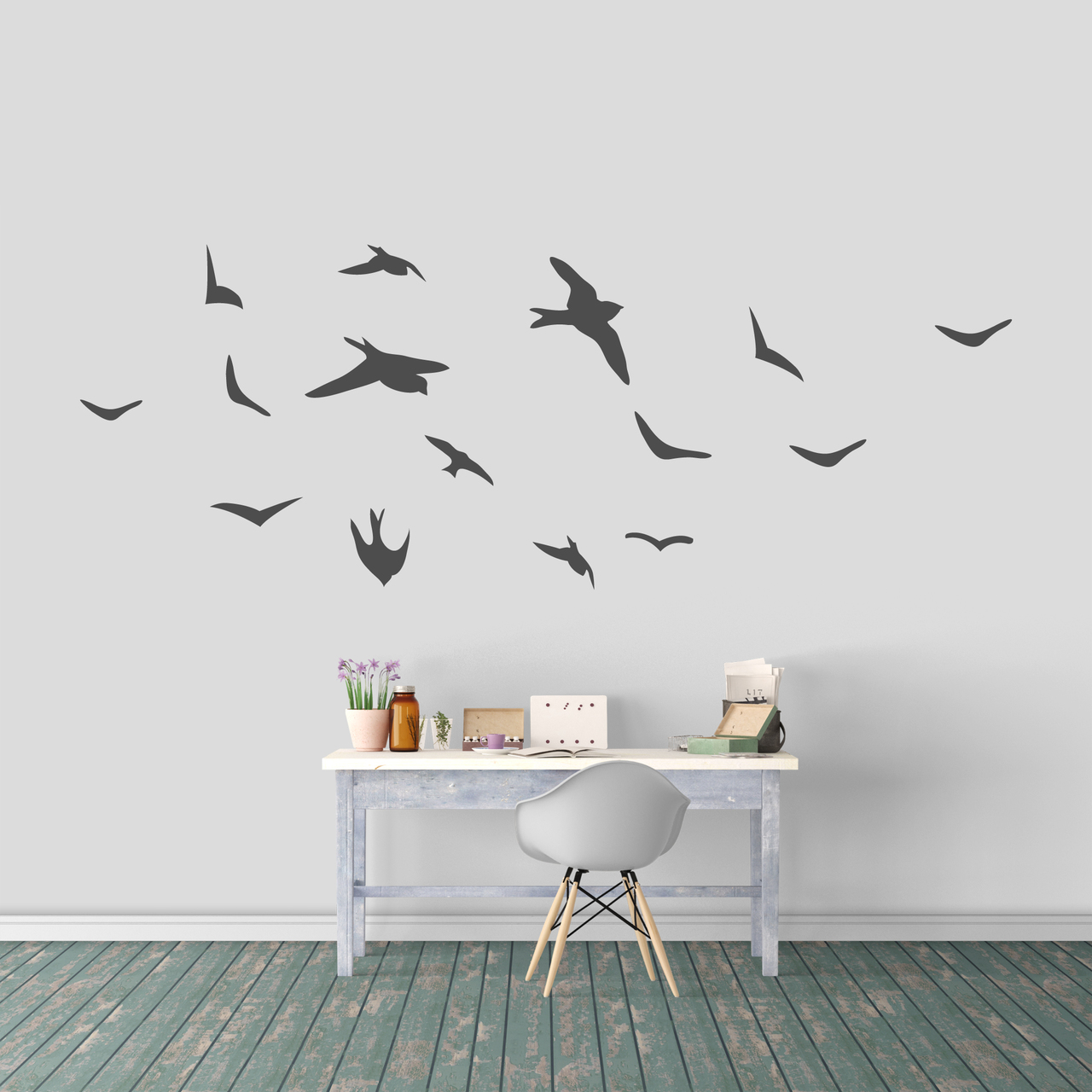 Flying Birds Wall Decal Set