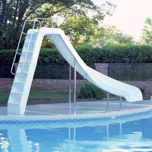 Inter-fab Wild Ride Pool Slide - White