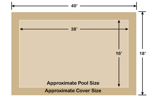 16' x 38' Rectangle Loop-Loc II Tan Super Mesh In-Ground Pool Safety Cover