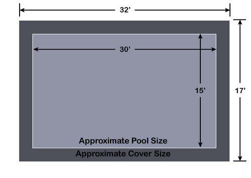 15' x 30' Rectangle Loop-Loc II Gray Super Mesh In-Ground Pool Safety Cover
