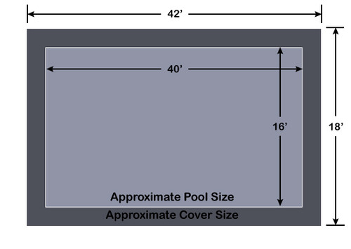 16' x 40' Rectangle Loop-Loc ll Gray Super Mesh In-Ground Pool Safety Cover