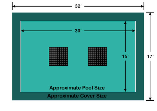 15' x 30' Rectangle Ultra-Loc III Solid with Drain Panels In-Ground Pool Safety Cover