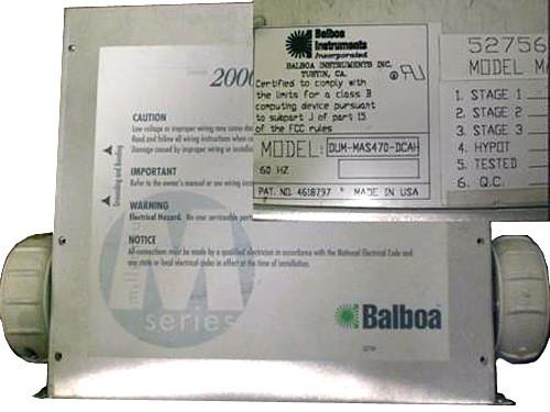 Master Spa - X300760 - Balboa Equipment MAS470 System Control Pack