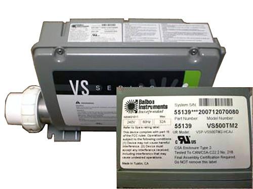 Master Spa - X300796 - Balboa Equipment VS500Z System Control Pack