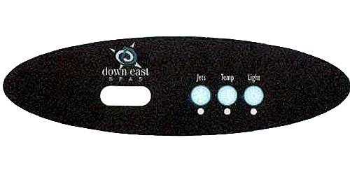 Master Spa - X509019 - Down East 1 Pump MVP260 Panel Overlay