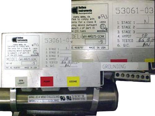 Master Spa - X300150 - Balboa Equipment MAS75 System Control Pack