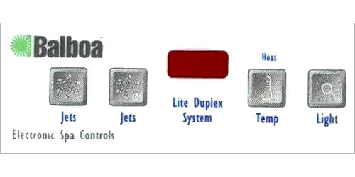 Master Spa - X505350 - Generic 225 LED 2 Jet Button Overlay