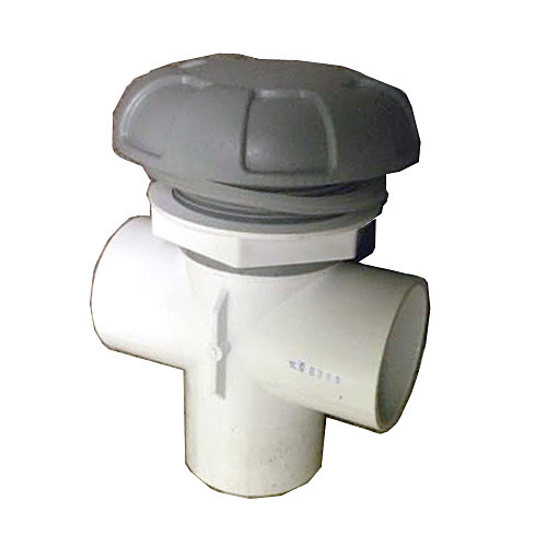 "Master Spa - X245367 - 2"" 6-Spoke Grey Diverter Valve Assembly - Side View"