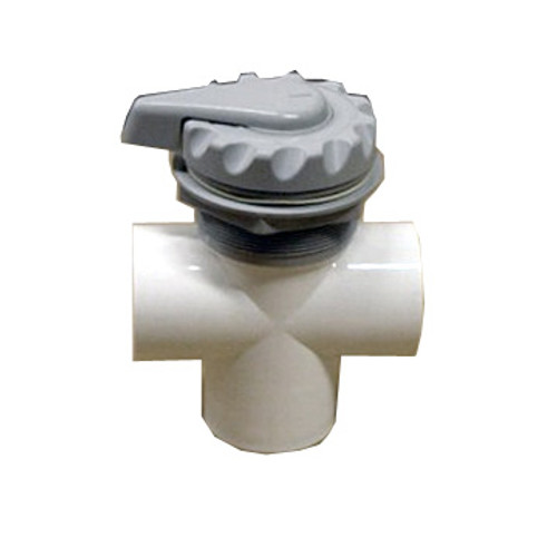 Master Spa - X279120 - 2 inch Grey Diverter Valve - Side View