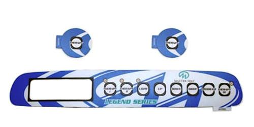 Master Spa - X505270 - 2001 Legend 3 Pump Overlay Set - Front View