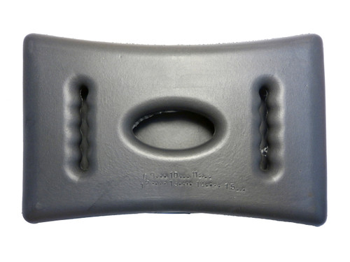 Master Spa - X540765 - Genesys Adjustable Graphite Pillow - Rear View