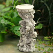 Cherubs with Birdbath (Gray)