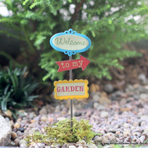 """Welcome to my Garden"" Sign Post"