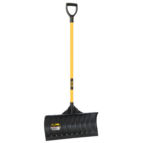 """24"""" Poly Snow Pusher with Shaped Fiberglass Handle"""