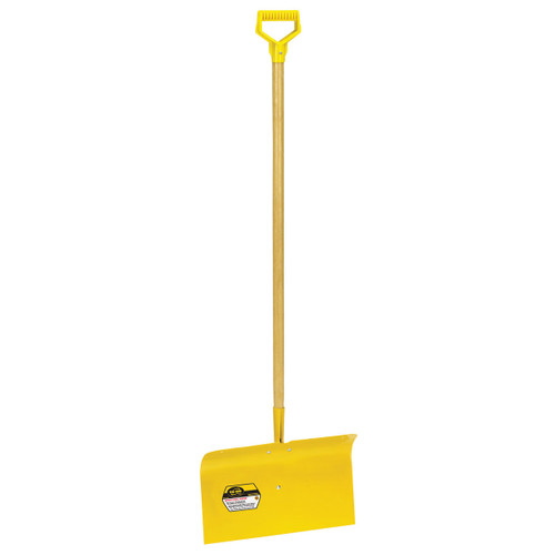 "18"" Spring Steel Snow Pusher with D-grip"